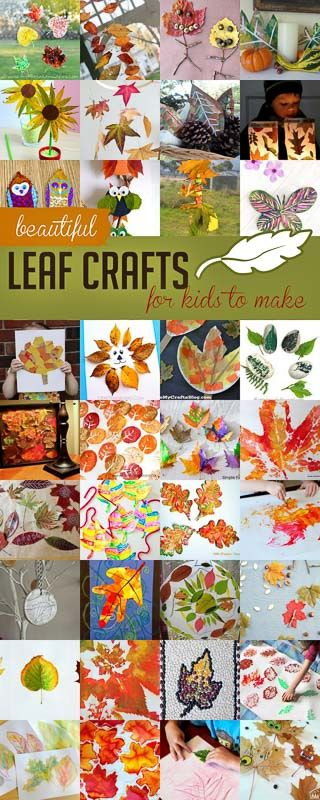 These are some gorgeous leaf crafts that the kids can make!