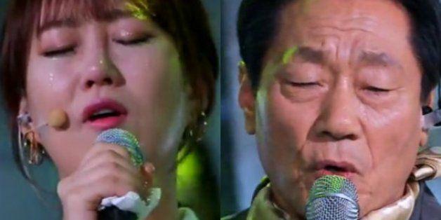 장윤정과 촬영장을 눈물 바다로 만든 서병순 씨의 사연(영상)