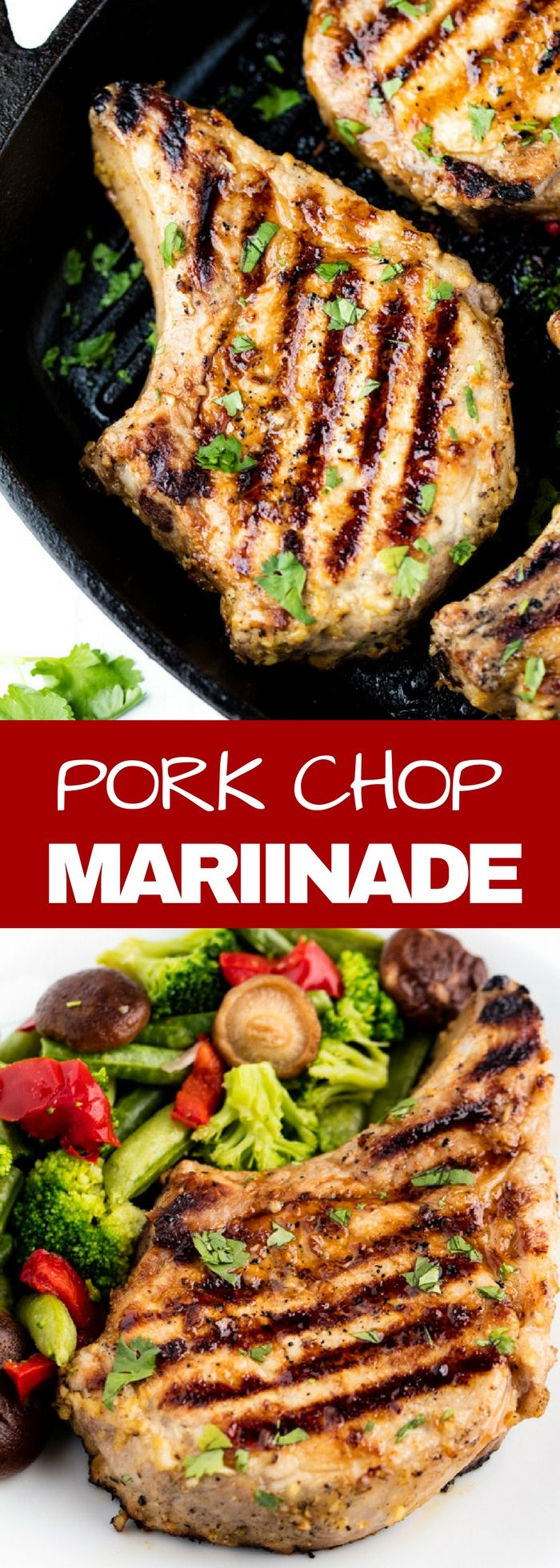 The Best Pork Chop Marinade is easy to make and perfect for any preparation of pork chops whether they are pan fried, baked, or grilled.