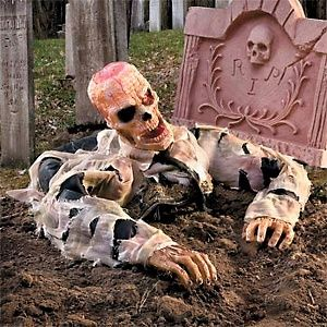 Improvements Escape from Grave Zombie Halloween Decor at HSN.com