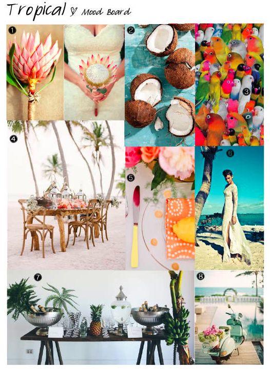 Tropical Mood Board Tropical Wedding Inspiration Mood