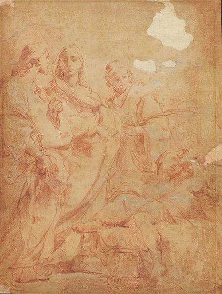 Raising of Lazarus Ubaldo Gandolfi (1728 - 1781) Peintre italien du baroque tardif, appartenant à l'école bolonaise