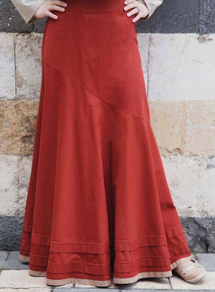 Asymmetrical Flared Skirt. Love the style I think I would like this better in a different color