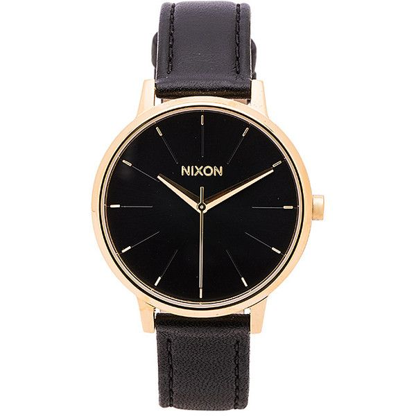 Nixon The Kensington Leather Accessories (1.702.565 IDR) ❤ liked on Polyvore featuring jewelry, watches, montres, nixon jewelry, nixon, leather watches, water resistant watches and leather band watches