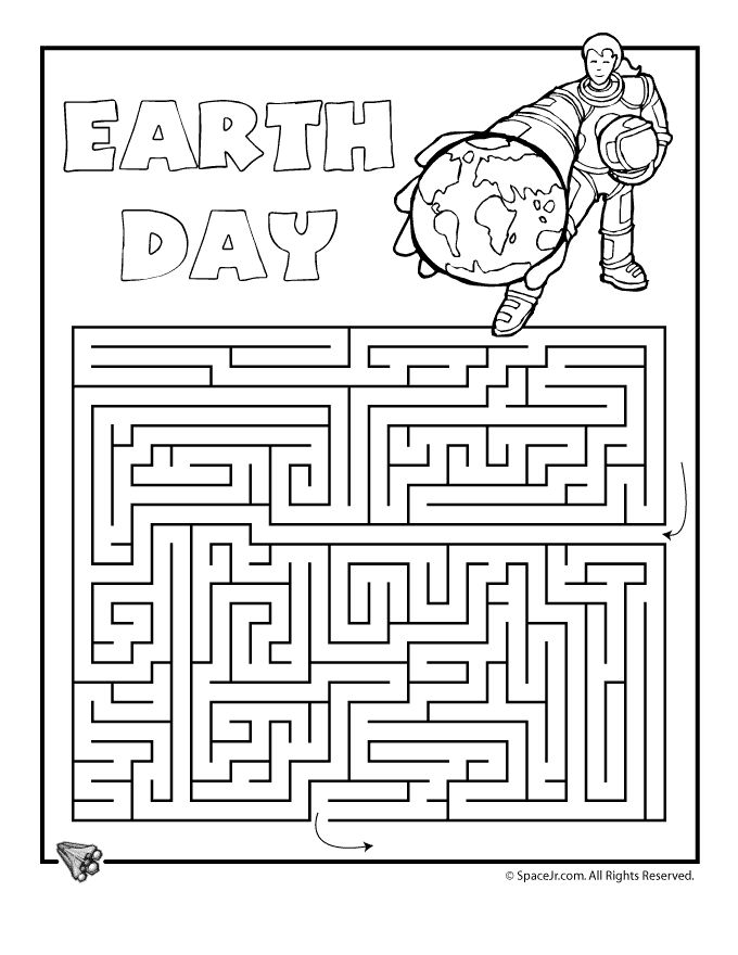 Earth Day Printable Mazes earth-day-maze-1 – Classroom Jr.