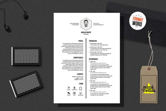 White - Resume template Word by @Graphicsauthor