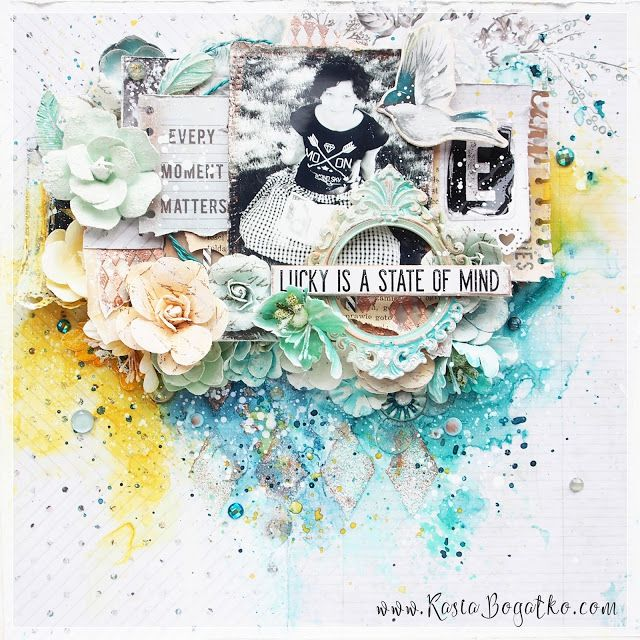 Lucky is a state of mind… - scrapbooking layout by Kasia Bogatko