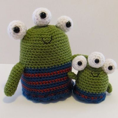 Crochet Amigurumi Alien : NEW Happy Aliens amigurumi crochet pattern - PDF Digital ...
