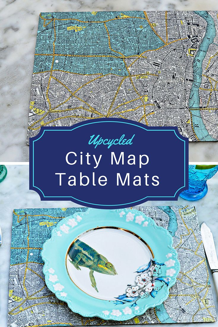 Houston Map Framed%0A Easy Map Table Mats With City Maps