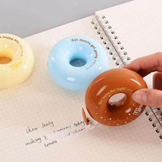 Creative Donut Cartoon Correction Tape School Supplies Student Kids Gift New China