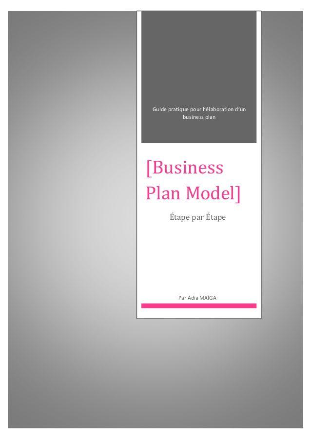Modèle de Business Plan : Startups & Entrepreneurs