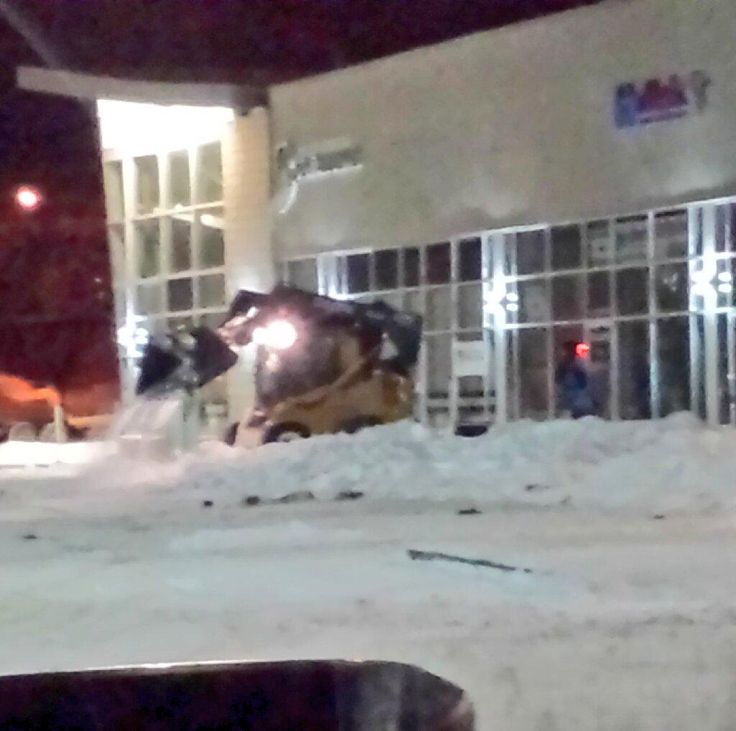 Snow Removal Edmonton. Our crews cleaning up someone elses mess. #Edmonton #snowremoval #YEG Ya get what you pay for