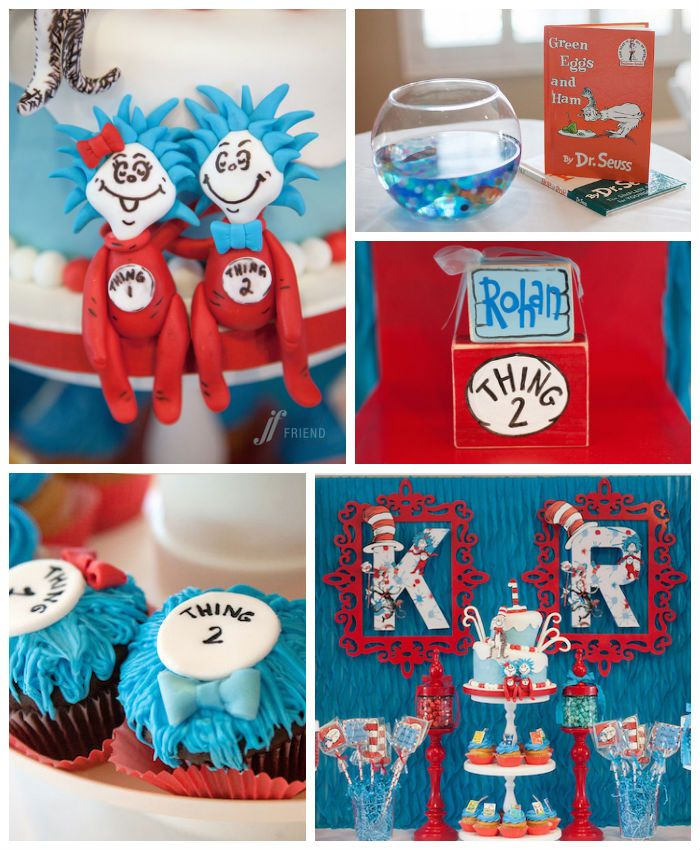 Thing 1 & Thing 2 Themed Birthday Party {Planning, ideas, Decor}