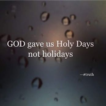 GOD gave us Holy days not holidays. Dont let a few letters confuse you. Holidays,  Jewish, Blackish- All these words are made to sound like an original, but none of them are the real thing!