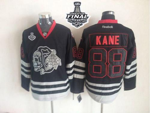 blackhawks 88 patrick kane new black ice 2015 stanley cup stitched nhl jersey