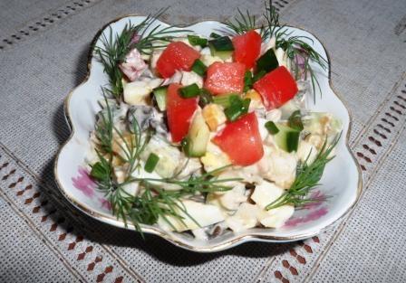 салат царский с курятиной
