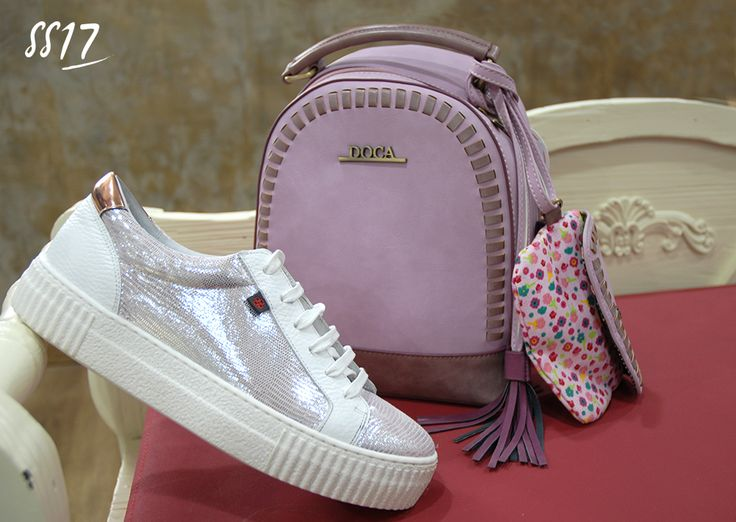 """Sporty chic #ss17!!  Elegant & Athletic Combination for """"hot"""" Spring style!!   Shop Online or Instore Purple Backpack 