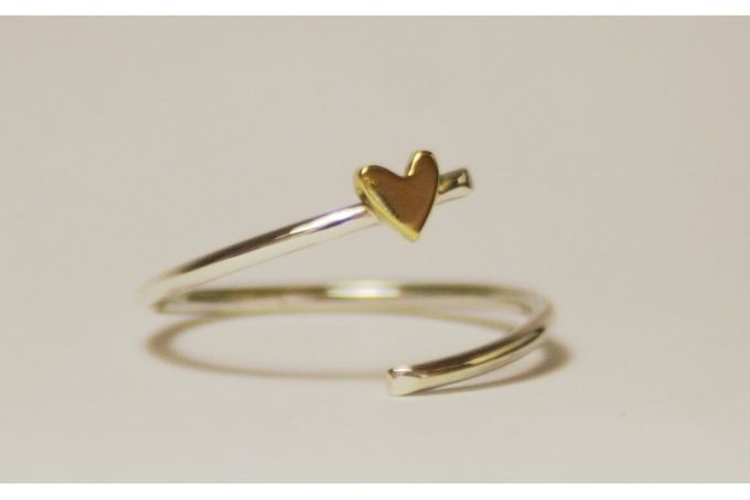 Open heart ring by Muchi Galoosh Jewellery