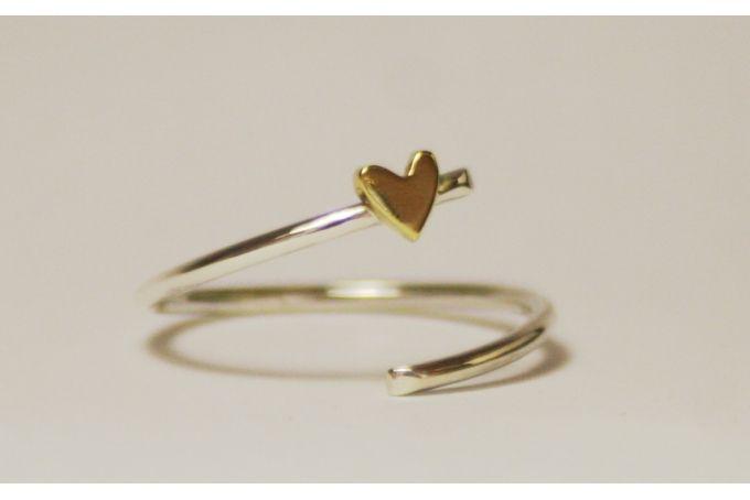 Open heart ring by Muchi Galoosh Jewellery