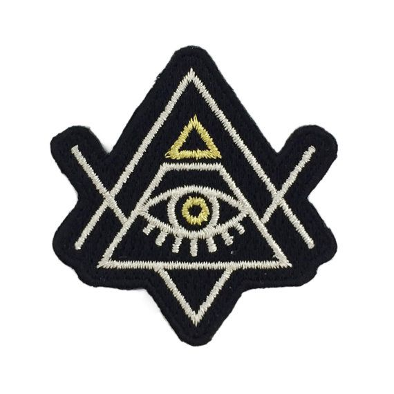 All-Seeing Eye Patch, Evil Eye, Pyramid, Embroidered Patches, Iron On, Applique, Wildflower + Co. DIY