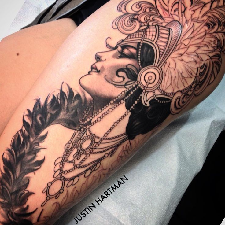 """Started this showgirl on Whitney today @fusion_ink"""