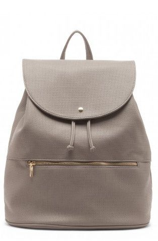 Nancy Gray Perforated Backpack