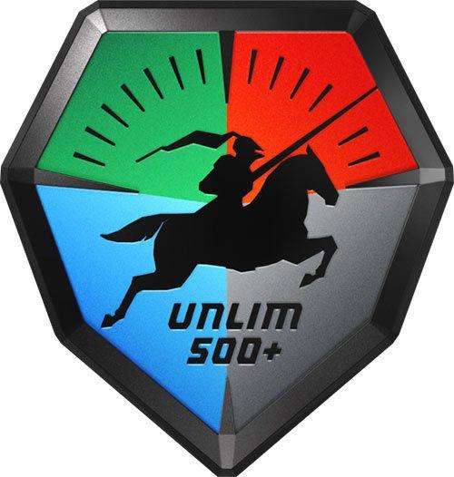 Логотип фестиваля «Анлим-500+»