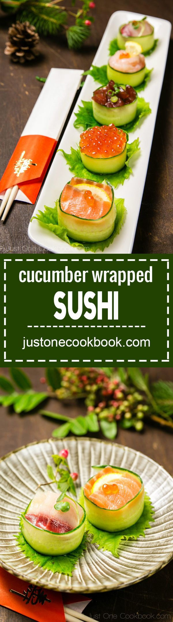 Cucumber Wrapped Sushi (きゅうりの軍艦巻き) | Easy Japanese Recipes at JustOneCookbook.com