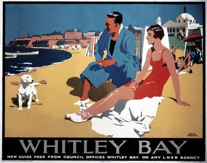 England - Northumberland - Whitley Bay, LNER poster, 1923-1947.