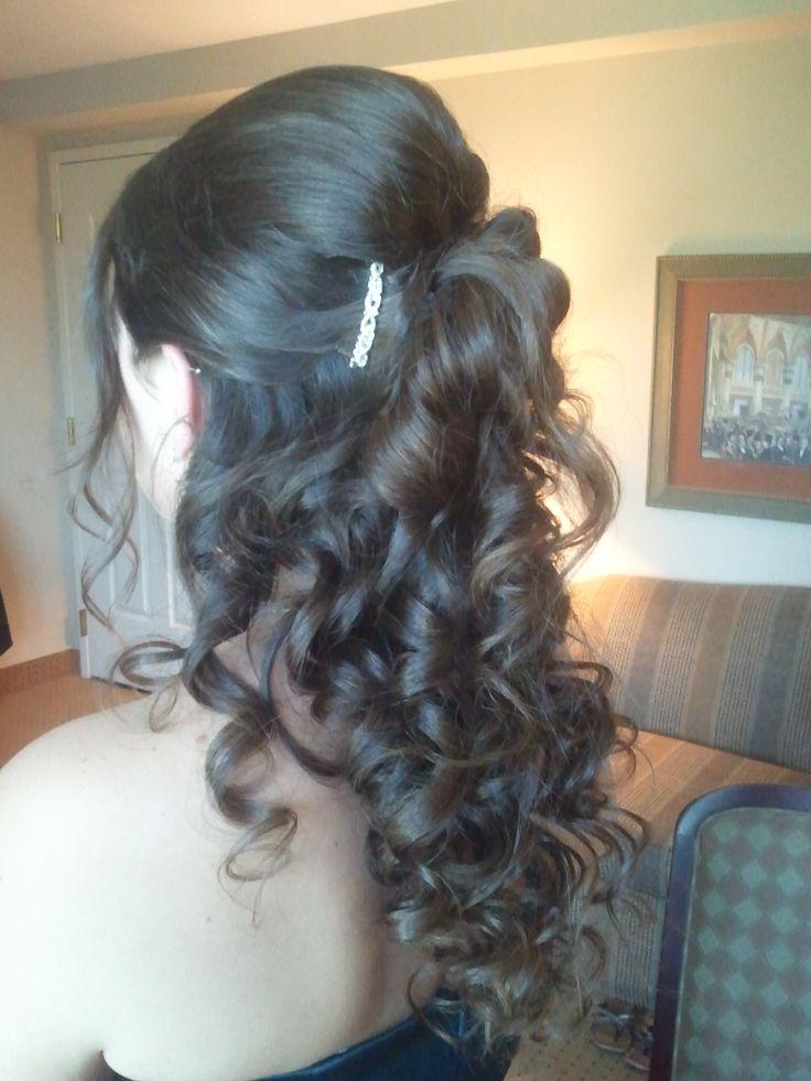 Bridesmaid Half UP Half Down, Bridal Hair, Wedding Hair, Orlando hairstylist, Orlando Makeup Artist