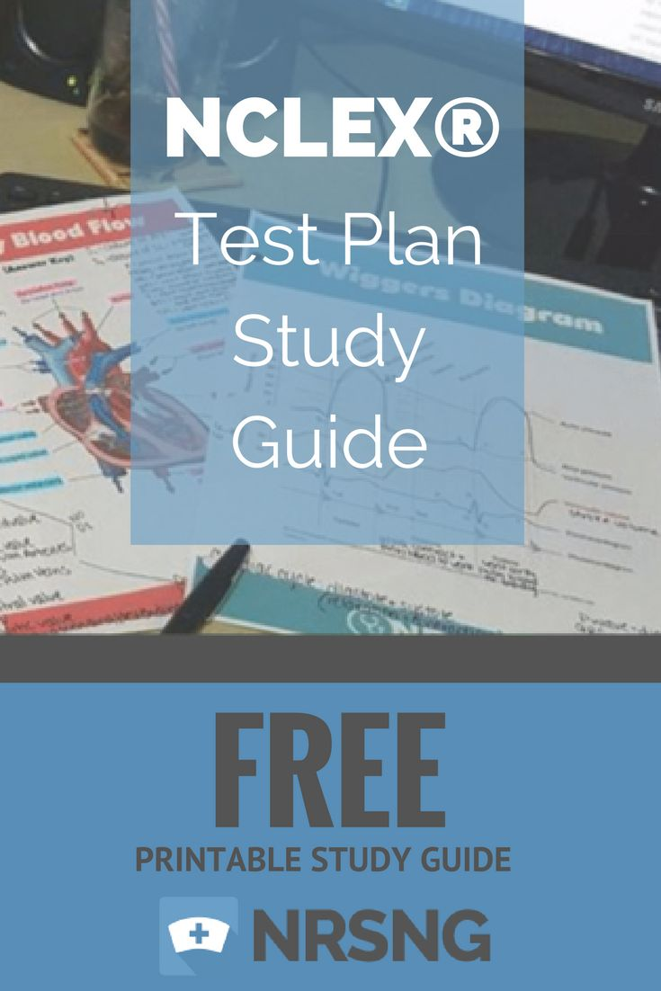 FREE Printable Study Guide | NCLEX Test Plan Study Guide | Nursing School Tips | NRSNG.com