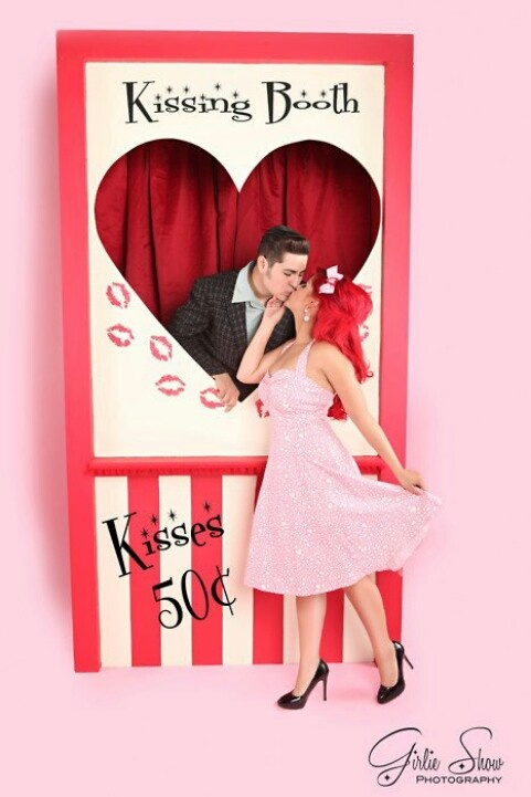 Kissing booth for birthday person or guest of honor at a party! xoxoxox