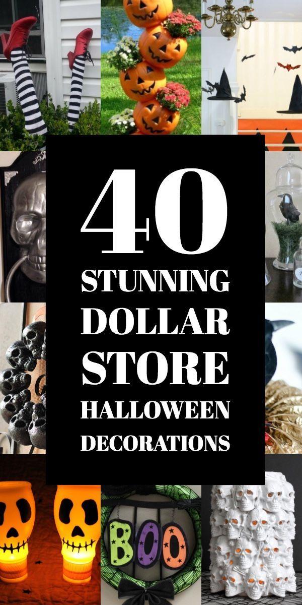 Dollar Store Halloween Decoration Ideas High End Look On The Cheap Dollar Store Halloween Decorations Dollar Store Halloween Dollar Tree Halloween