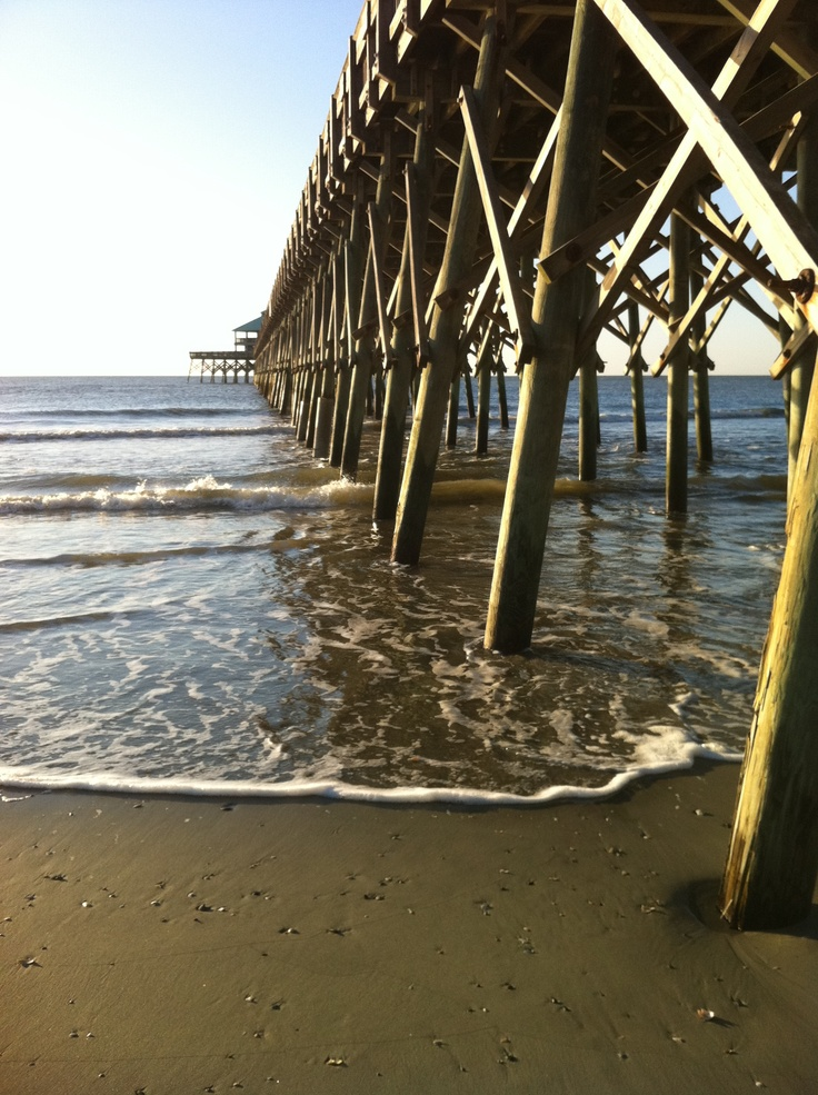 The fishing pier at folly island sc sun surf sunrises for South carolina surf fishing
