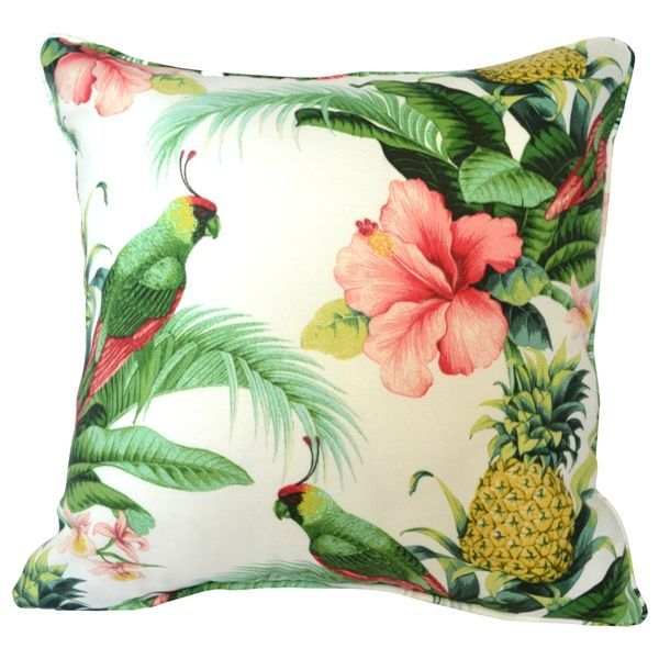 Create Your Own Paradise With This Tropical Print Aloha Cushion