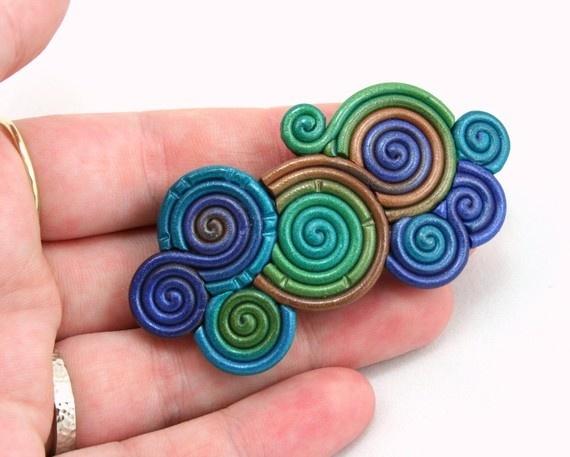 Art coiled polymer clay polymer-clay-ideas