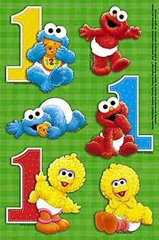 Baby Boy First Birthday Themes Sesame Street
