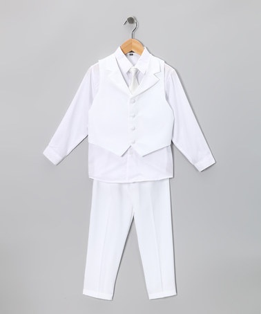 Take a look at this White Vest Set - Boys by Angels New York on #zulily today!