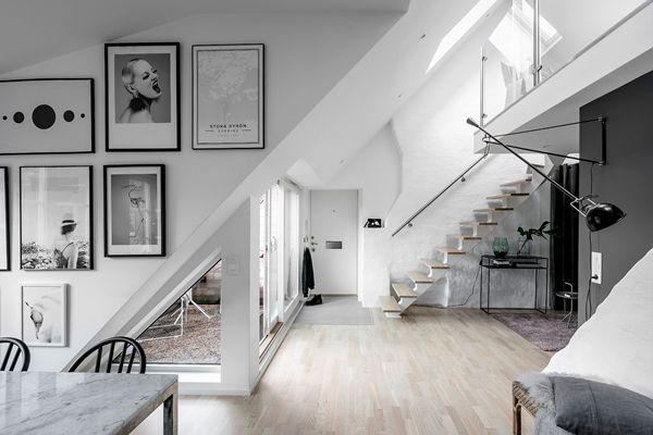 Ljuvlig vindsvåning i etage ‹ Dansk inredning och design