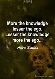It may always appear that knowledge has nothing to do with #falseego. but #realknowledge or #truth and false ego do not come together. It is rightly said here in the above #graphics