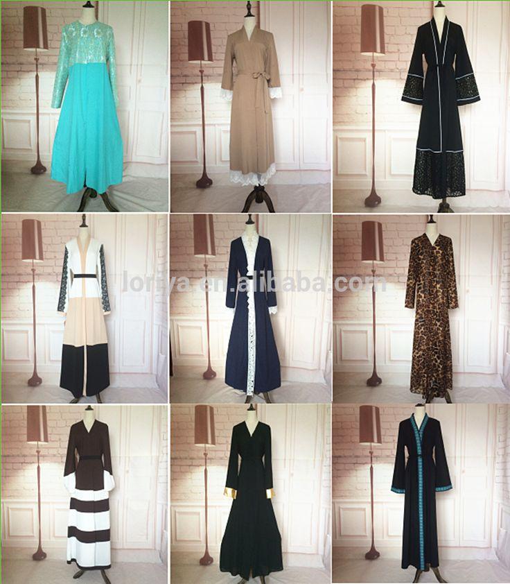 Manufacturer new model abaya in dubai abaya 2016 beautiful islamic kimono sleeve open abaya latest burqa designs pictures