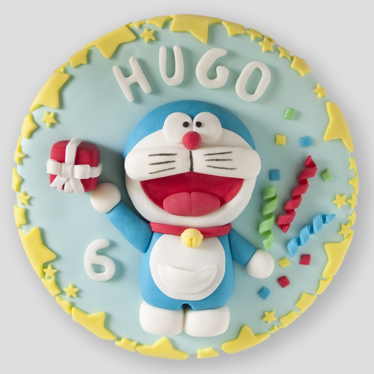 Doraemon Birthday Cake With Name