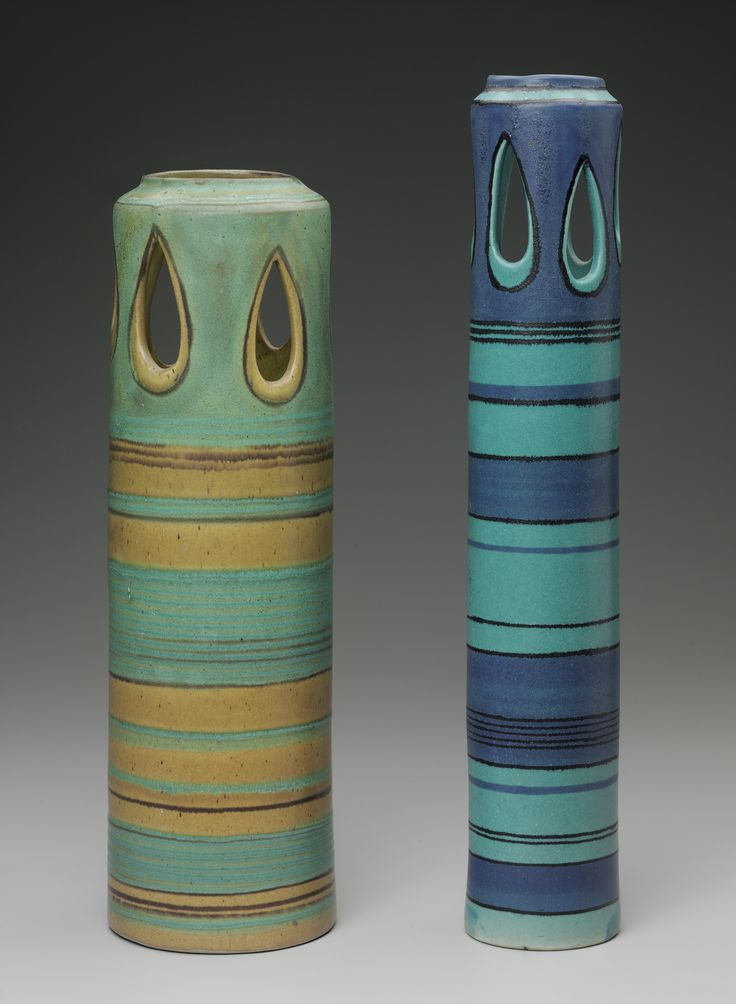 Cylindrical Vases, 1952 57, Fong Chow. Glazed Stoneware. Glaze: A Surface  Coating For Ceramics. Glaze Is Much Like Paint But Is Made From Glass Like  ...