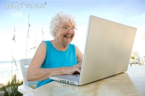 Most older people love computers, too!  ♡