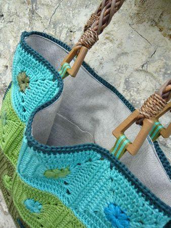 Granny bag in pretty colors - no pattern