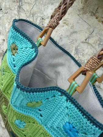 Blue and Green Bag - Inspiration: