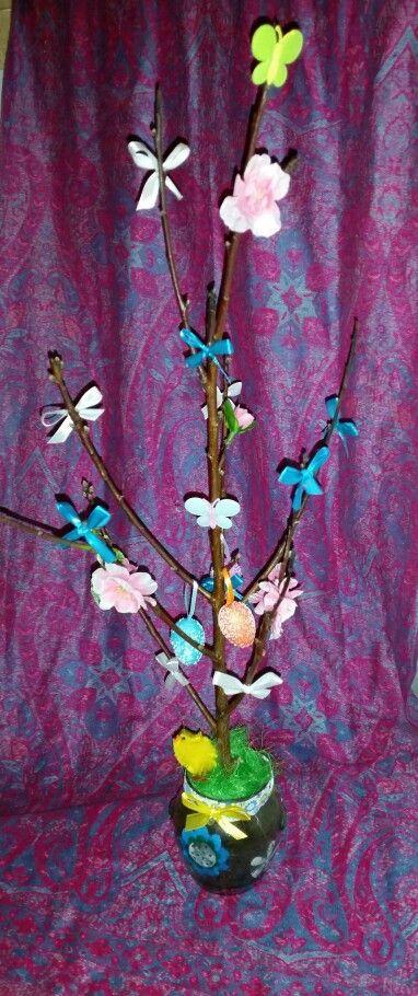 #ramodipesco #pulcino #colori #pasqua #fiocchetti #uova #butterfly