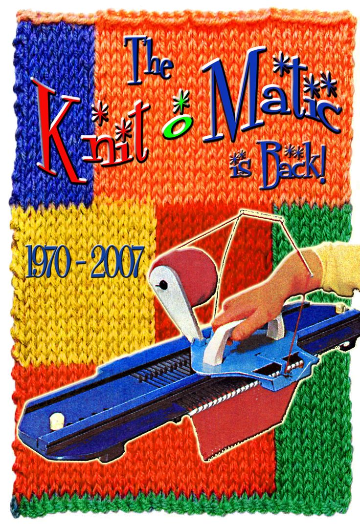 Knitting Loom Machine : The knit o matic from s being reintroduced by me