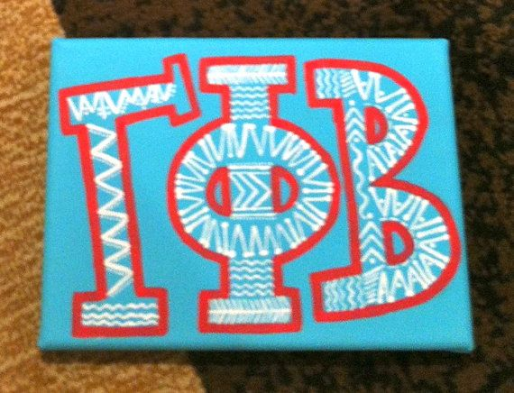Gamma Phi Beta Aztec 4x6 canvas by jhirschbuehler on Etsy, $15.00