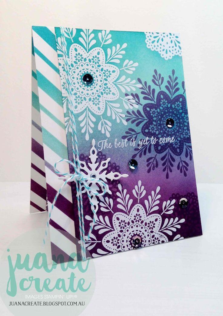 Frosted Medallions Best Wishes - International Blog Highlight. Juana Create